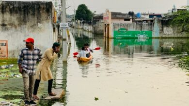 Photo of Misery for Osman Nagar residents as area flooded since 2 weeks