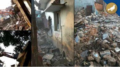 Photo of GHMC demolishes houses built on nalas in flood-hit Jubail Colony