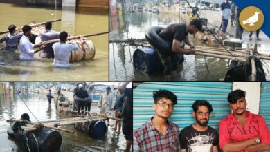 Photo of Hyderabad floods: Local boys turn saviors in Al Jubail colony