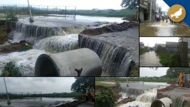 Photo of Balapur lake overflow water entered in nearby colonies