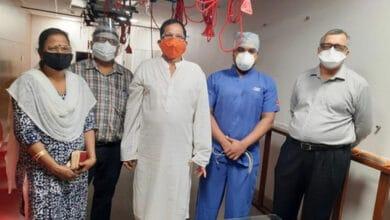 Photo of Goa: Shripad Naik visits hospital for follow-up CT scan