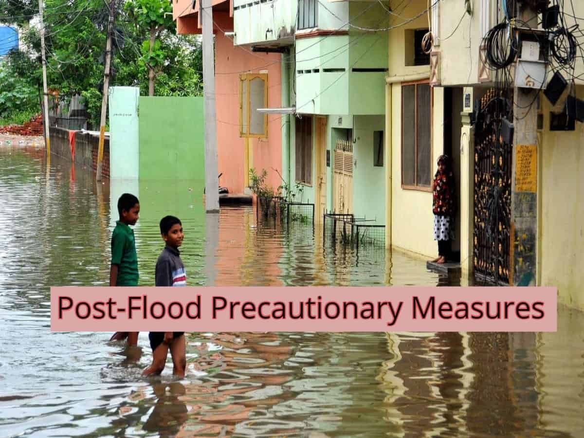 Personal health and safety precautions to take post flood