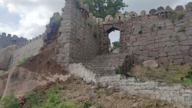 Photo of Hyderabad rains:Another wall of historic Golconda Fort collapses