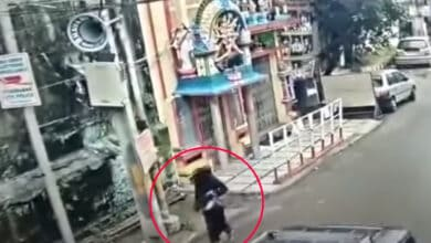 Photo of This Hyderabadi woman has a lucky escape
