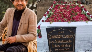 Photo of Irrfan Khan's grave in now all decked up with flowers!