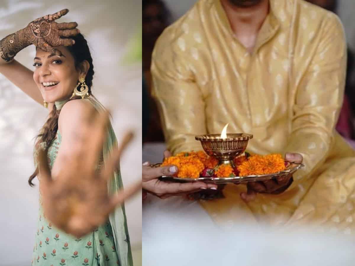 Pre-wedding ceremonies begins at Kajal Aggarwal house, see pics