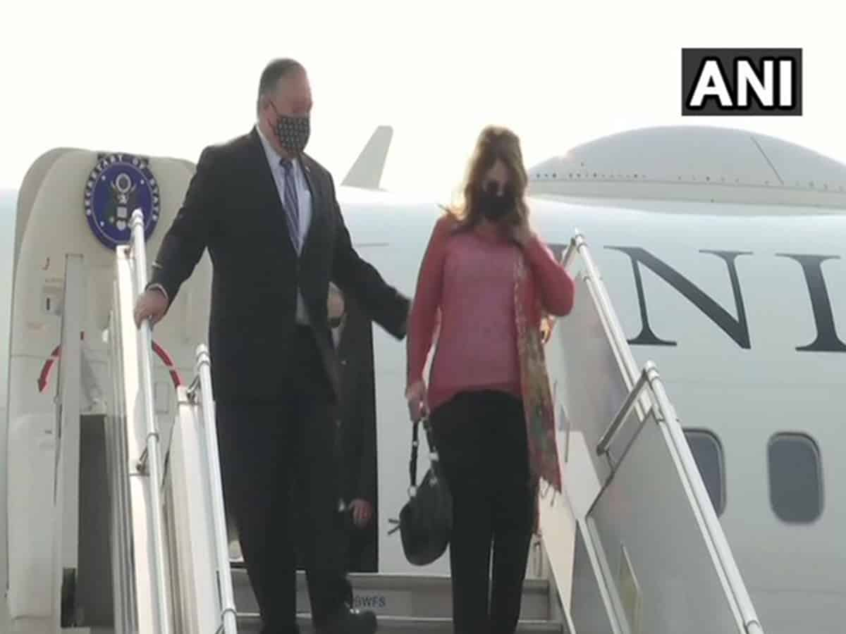 Mike Pompeo arrives in India for 2+2 Ministerial Dialogue