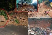Photo of Hyderabad: Heavy rains cause landslide at Falaknuma and Nampally