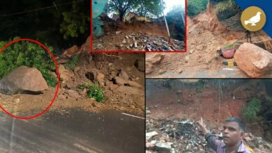 Photo of Hyderabad: Heavy rains cause landslide at Falaknuma and Nampally