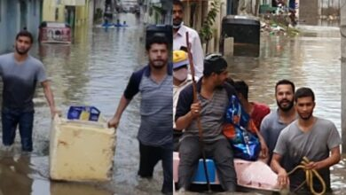 Photo of Good samaritans help Hyderabad flood victims with essentials