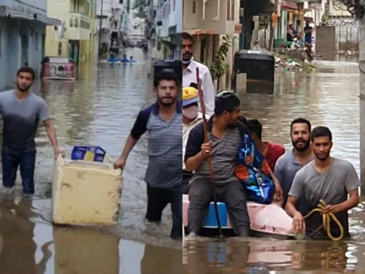 Good samaritans help Hyderabad flood victims with essentials