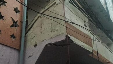 Photo of Families evacuated, two injured as roof of an old house collapses in Hyderabad