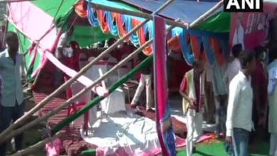 Photo of Stage collapses during Pappu Yadav's campaign in Muzaffarpur