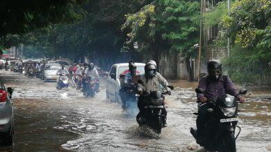 Photo of Waterlogging on roads in Hyderabad