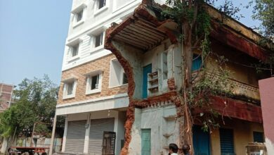 Photo of Nizam-era Bela Kaman demolished by GHMC after portion falls-off