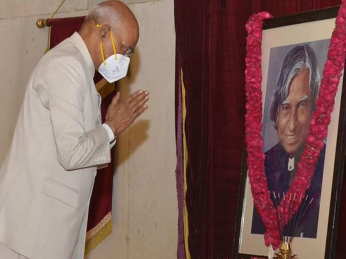 President pays tribute to Abdul Kalam on his birth anniversary