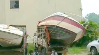 Photo of Speed boats from AP arrive in Hyderabad for rescue operations