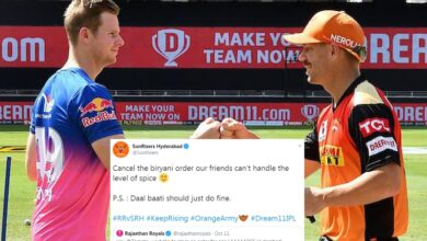 Photo of Banter over Biryani: SRH hilariously troll RR after IPL match win