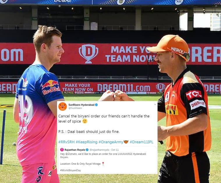Banter over Biryani: SRH hilariously troll RR after IPL win