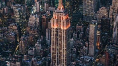 Photo of US: Empire State Building lit up in orange to commemorate Diwali