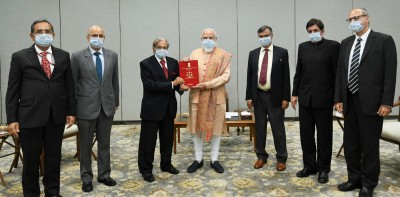 15th Finance Commission presents FY22-26 report to PM