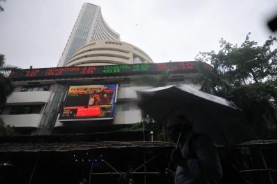 New high: Sensex crosses 43,700 mark; auto stocks shine (Ld)