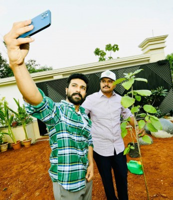 Actor Ram Charan participates in Green India challenge