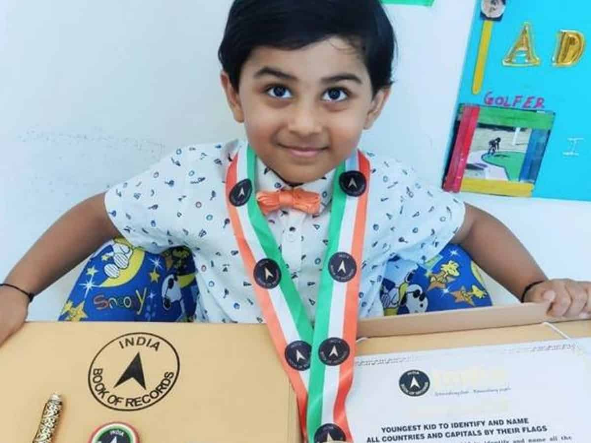 Hyderabadi toddler secures his name in India Book of Records