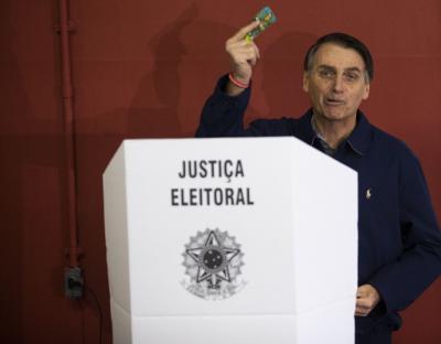 Bolsonaro votes in municipal polls