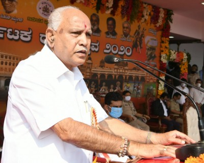 CM assures more jobs for Kannadigas on state formation day (Ld)