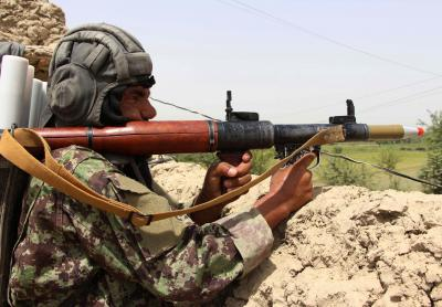 Clashes underway in Afghan district