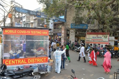 Covid cases, tests reduced to half in Delhi; deaths prevail