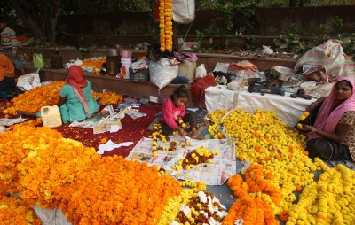 Flowers offered at Gorakhnath temple to turn into incense sticks