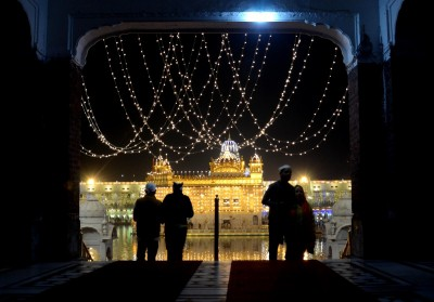 Golden Temple lights up, but fireworks restrained