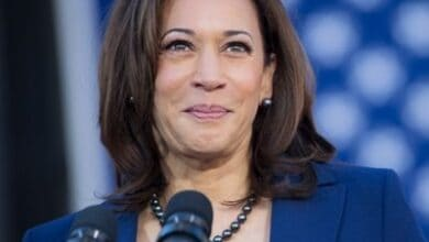 'I'm thinking about her': Kamala Harris thanks mother in victory speech