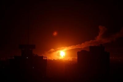 Israel strikes Hamas positions in response to rocket attack from Gaza