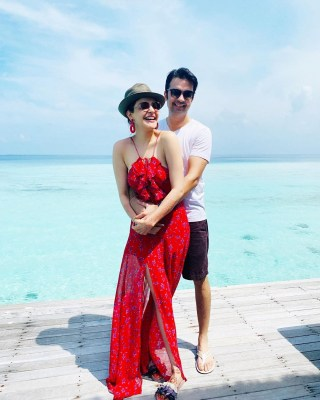 Kajal Aggarwal gives a sneak peek into her honeymoon