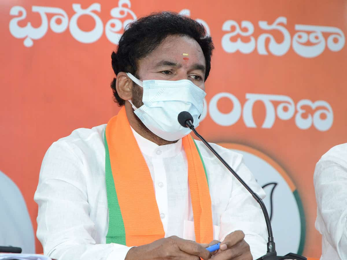 MoS Kishan Reddy refuses to respond on