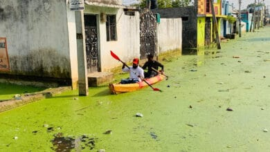 Photo of Weeks after floods, Osman Nagar residents still use boats