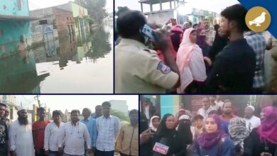 Photo of Osman Nagar still inundated, Residents stage protest