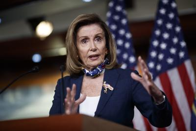Pelosi urges Republicans to resume Covid-19 relief package talks
