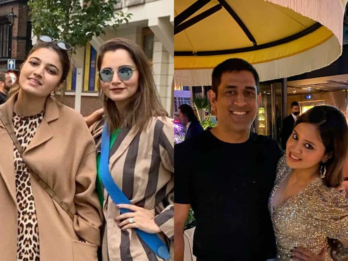 Sakshi Dhoni celebrates her birthday with Mirza sisters in Dubai