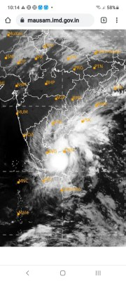 Severe thunderstorm likely soon over Andhra's Nellore, Chittoor