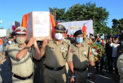 Tripura bids tearful adieu to BSF man killed in Kashmir