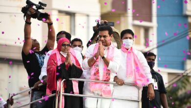 Photo of KTR begins roadshows for GHMC elections from Kukatpally
