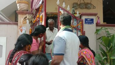 Photo of Canvassing for Congress candidate Mateen Shareef in Santosh Nagar