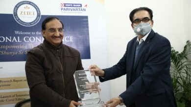 Photo of Cambridge University awards education minister Ramesh Pokhriyal for excellence in NEP