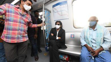 Photo of Actor Pawan Kalyan takes metro ride in Hyderabad during shoot