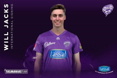 Will Jacks to make BBL debut with Hobart Hurricanes