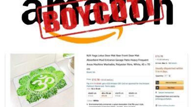 Netizens demand boycott of Amazon for selling 'Om' printed door mats